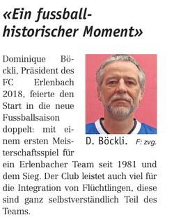 FC Blau-Weiss Erlenbach Ein fussballhistorischer Moment