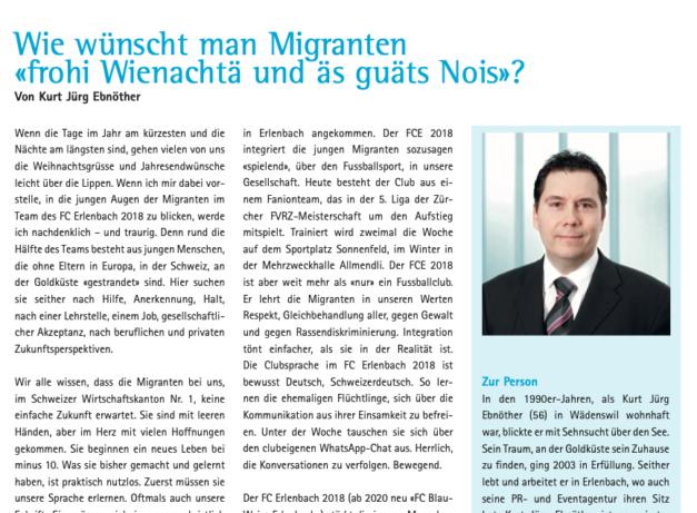 FC Blau-Weiss Erlenbach Artikel Kurt Ebnöther